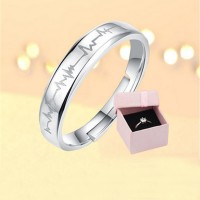 Spring Spring Collection 925 Sterling Silver Sparkling Love Heart Ring Women Jewelry Saint Valentine's Day GiftCollection 925 Sterling Silver Sparkling Love Heart Ring Women Jewelry Saint Valentine's Day Gift