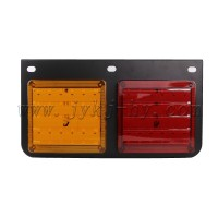 Red Yellow 12V 24V 3 Holes LED Tail Lights For Trucks