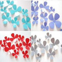12Pcs/Set Stereo Flower Creative Background Wall Decoration Wall Stickers Multicolor Wall Decals