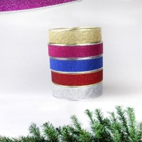 Home Decor Bling Ribbon Wreath Christmas Party Weeding Wire Edged Multicolor
