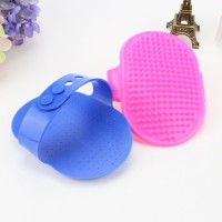 Oval Shaped Rubber Dog  Pet Bath Brush Massage Brush