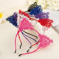 Women Girl Fashion Lace Cat Ears Headband Hair Hoop Hair Accessories
