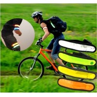 Running Cycling Hand Strap Wristband LED Safety Reflective Light Luminous Armband Arm Belt