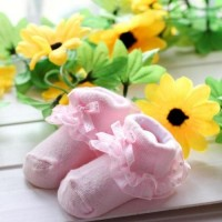 Newborn Baby Girl Cute Socks Lace Non-slip Bowknot Socks Free Shipping