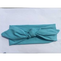 Women Fashion Elastic Solid Color Rabbit Bow Hair Band Headband