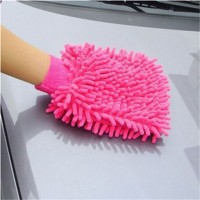 Mitt Window Car Washing Home Cleaning Duster Towel Mitten Color Random