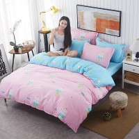 2017 new arrival 1.0m beding set Polyester Duvet Cover Set Polyester Printed Europe Home 3 Pcs Flat Screen Print  bedding Set