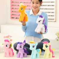 25cm minecraft my cute lovely little horse toy Plush toys poni Unicorn doll toys for Children Christmas Toys soft dolls