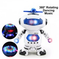 2017 NEW Smart Space Dance Robot Electronic Walking Toys With Music Light Gift For Kids Astronaut Toy to Child