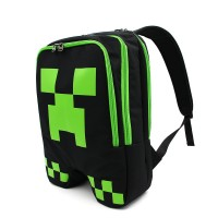 2016 Newest black style official minecraft creeper backpack model minecraft bag cool model for unisex GAME Birthday gift kids' favorite