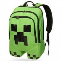 2016 Hot sell minecraft backpack 12 styles minecraft bag High Quality unisex 16 OZ canvas zip creeper backpacks mochilas school bag bolsas GAME gifts