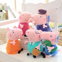 4pcs/6pcs Original Peppa Pig Plush Toys 19/30cm George Pig Family pepper pig friends Chirstmas Birthday Gifts For Children Moana Baby Animal