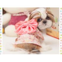 Free Shipping Pet Dress Up Costume Japanese Kimono With Bowknot Apparel for Dog Cat Puppy Pet