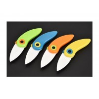 Kitchen Cute Cartoon Bird Folding Practical Fruit Zirconia Ceramic Knife Paring Anti-skid ABS Handle Outdoor Camping Fruit Cutlery For DIY Kitchen Tools