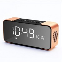 2017 Hand Free Calling Wireless Metal Led Screen Clock Alarm Bluetooth Speaker for Phone , Pad , PC , PSP