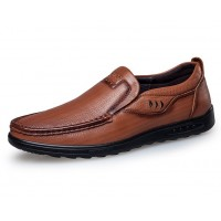 Genuine Leather Men Flats Sports Shoes Driving Shoes Genuine Leather Mens Loafers Shoes Slip-on Moccasins Sneakers