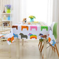 Lovely Table Cloth Cotton Linen Print Cartoon Rectangular Dinning Tablecloths Cover Home Decor