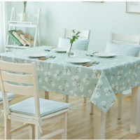 Floral Linen Table Cloth Country Style Flower Print Multifunctional Rectangle Table Cover Tablecloth