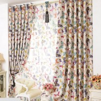Customized Pastoral Cortinas Blackout Curtains For Living Room Butterfly Curtains Bedroom Curtains Livingroom Curtain