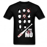 Rock and Roll T-Shirt Men Eeny Meeny Miny Mo tshirt Customized Classic Negan Lucille Zombie Men Tee Shirts