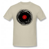 Unique T Shirt Men Spinning With A Vinyl Record Retro Music DJ Man t shirt Cheap Sale Tee Shirt Plus Size