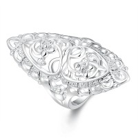 Silver plated ring classic British style R698