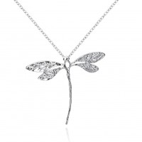 Dragonfly pendant silver plated pendant P076
