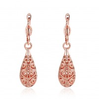 Water drop earrings rose gold / gold / white gold plated ear hook E016 E112 E345