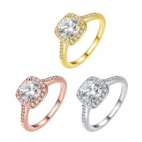 K Rose gold / Gold / white gold plated ring R002