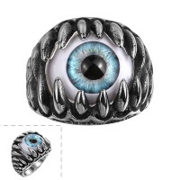 Characteristic eye shape titanium steel ring men ring R098