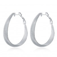 Net earrings fashion round ear hook E064