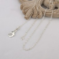 Silver plated Rolo neck chain for pendant 18in C001