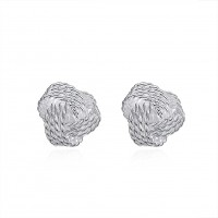 Tennis earrings ear hook silver plated E013