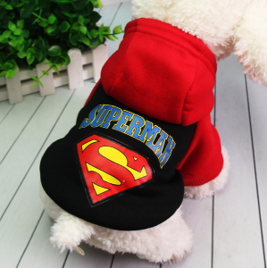 Chihuahua Teddy  dog clothing hoodie Best Quality Cotton Superman dog clothes Costume Pet dog coat cute Puppy clothesChihuahua Teddy  dog clothing hoodie Best Quality Cotton Superman dog clothes Costume Pet dog coat cute Puppy clothes<br>