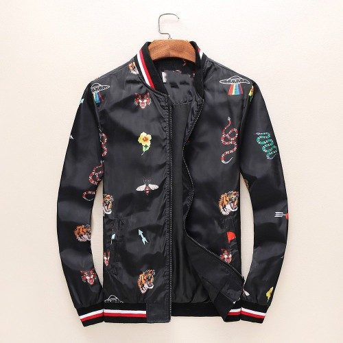 Spring and autumn new jacket men collar casual printing high-end stocking jacket