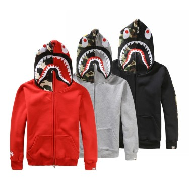 Manufacturers of foreign trade mens tide brand shark men plus cashmere sweater men and women couple hooded jacketApparel<br>Manufacturers of foreign trade mens tide brand shark men plus cashmere sweater men and women couple hooded jacket<br>