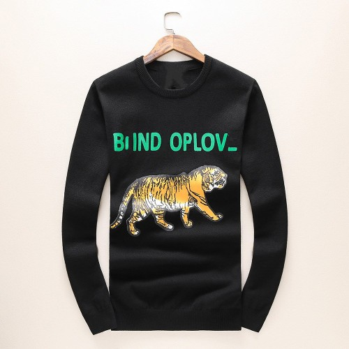 Autumn and winter burst sweater male hedging round neck golden tiger print casual explosions cashmere sweater knit spot