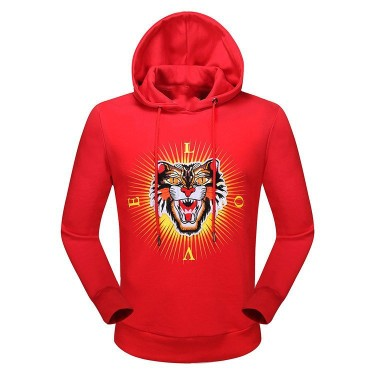Autumn and winter foreign trade new long-sleeved sweater male cotton leisure tiger printing sweater