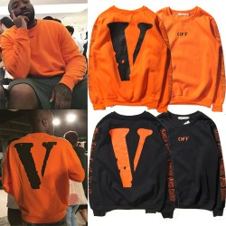 Europe and the United States tide brand OFF hip-hop Edison Chen men and women fashion lovers with large V print long-sleeved collar sweaterApparel<br>Europe and the United States tide brand OFF hip-hop Edison Chen men and women fashion lovers with large V print long-sleeved collar sweater<br>