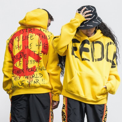 2017 autumn and winter new tide brand European and American men's large letters printed couple men's men's hooded sweater