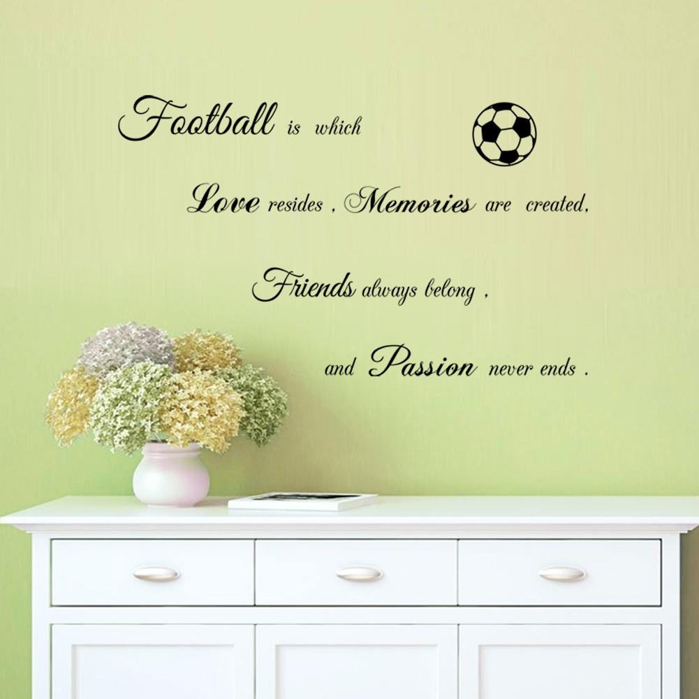 DIY wall stickers Passion for football in forever Removable wall ...