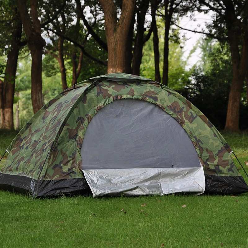 Charming Double Camouflage Tent 2 People Leisure Tent Outdoor Camping Tent Camping  Tent
