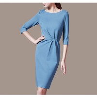 Exclusive fashion women slim chic rose red dress SIL1002