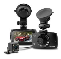 Dome G30B 2.7 inch H.264 1080P Full HD Dual Lens Car DVR 140 Degree Wide Angle Lens Dash Camera Video Recorder with Rear View Camera Motion Detection G-sensor with Charger