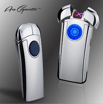 Double Dual Arc Plasma Coil Lighter USB Recahrageable Windproof Flameless Electric Lighter