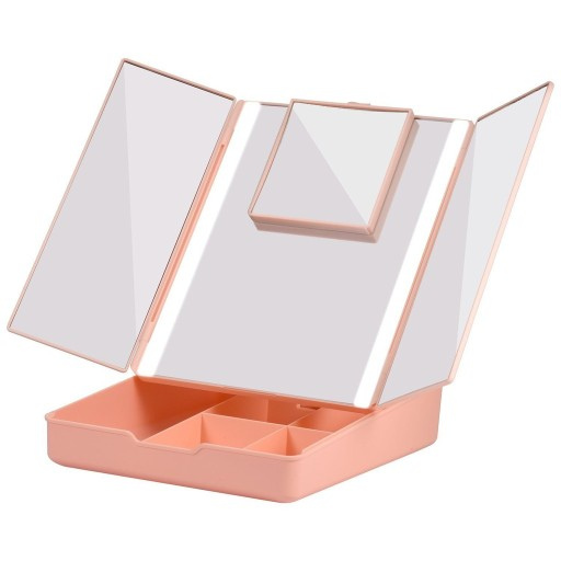 Fascinate Trifold Storage Makeup Mirror With 7X Magnification