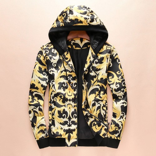 New spring and autumn jacket men's fashion casual European and American jacket digital printing jacket