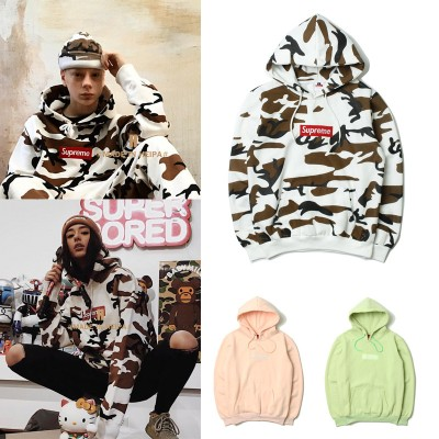 Europe and the United States tide brand embroidery letters desert cow camouflage hooded sweater sweater teen men and women hip-hop plus velvet jacket