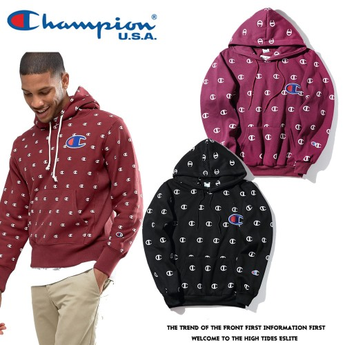 Japanese tide brand full version of the small C printed hoodies large embroidered sweater Men and women couples Harajuku wind velvet jacket