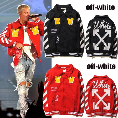 Bieber models with Europe and the United States tide card diagonal stripes sweater Cardigan jacket men and women baseball uniforms plus velvet jacket